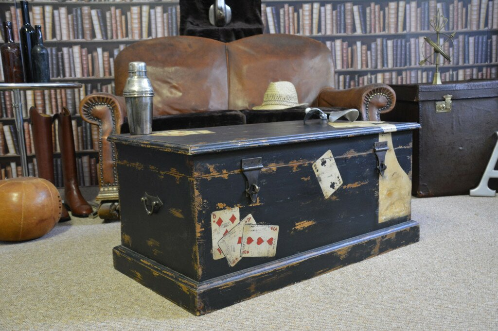 Ace of Spades Vintage Playing Cards Chest