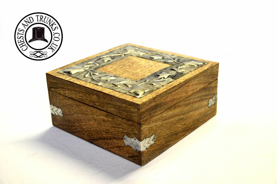 Mango Wood Trinket Storage Box - Large