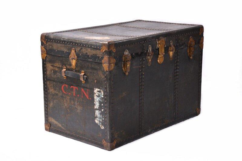 Large Antique Steamer Trunk