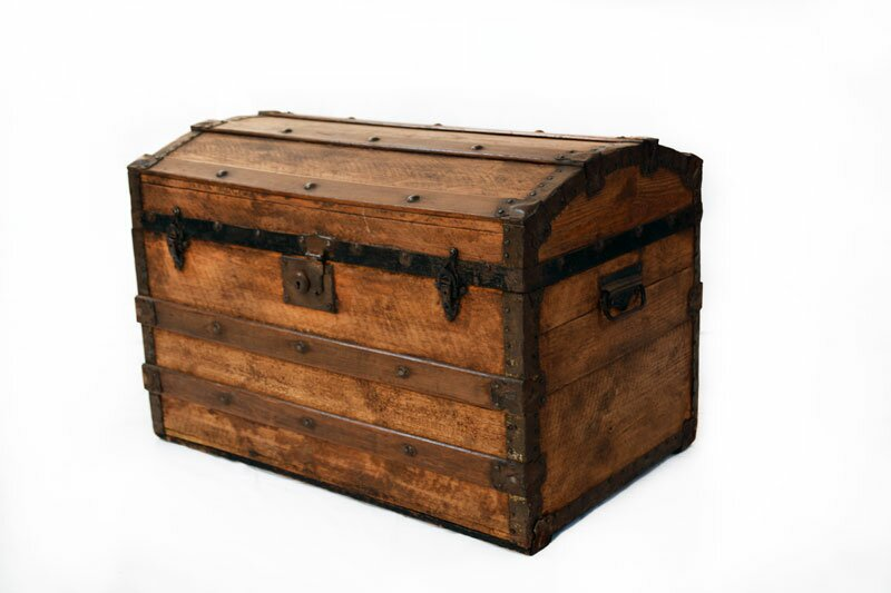 Pine Dome Steamer Trunk - Antique