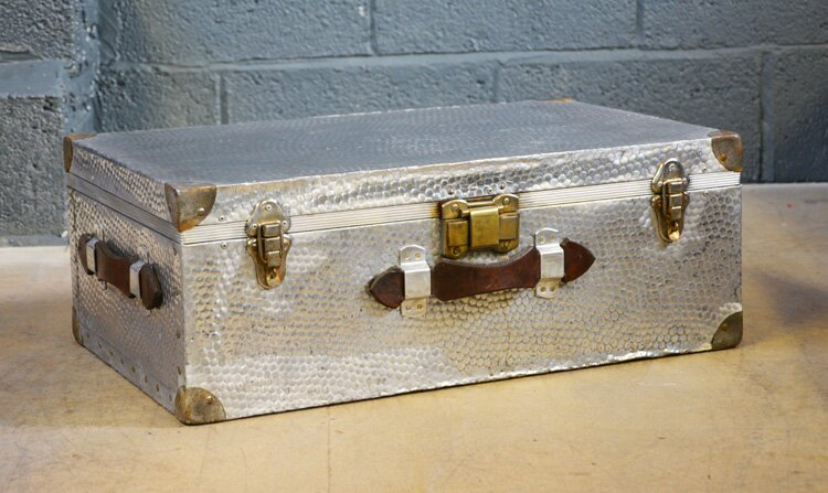 Vintage Aluminium Suitcase - Circa 1920 ⋆ Chests & Trunks